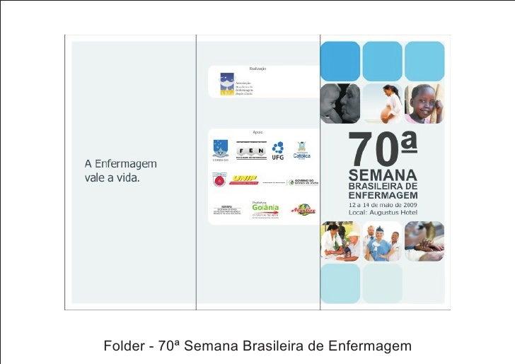 Folder - 70ª Semana Brasileira de Enfermagem