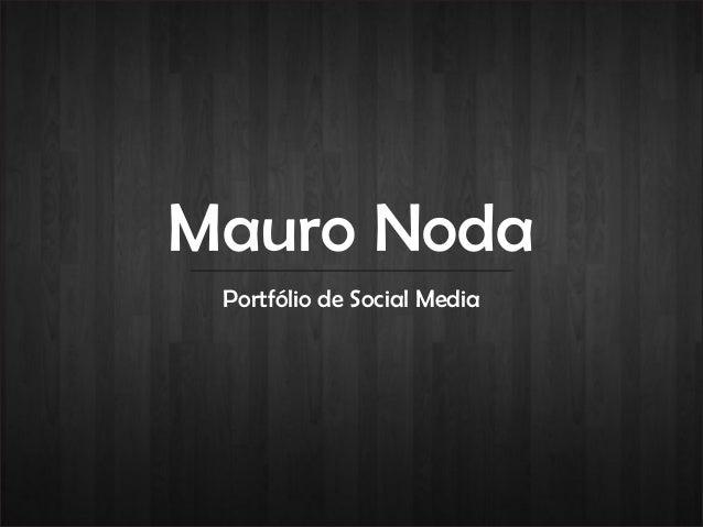 Mauro Noda Portfólio de Social Media