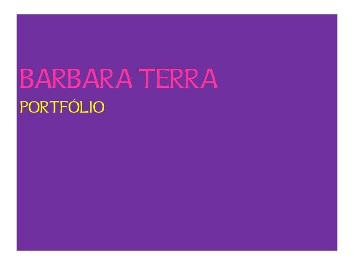BARBARA TERRAPORTFÓLIO