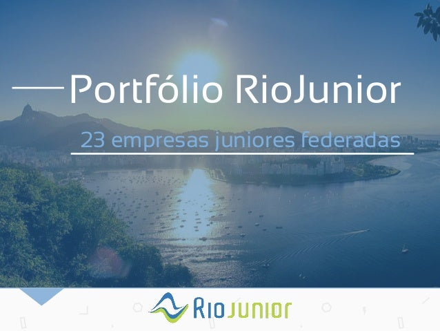 Portfólio RioJunior  23 empresas juniores federadas