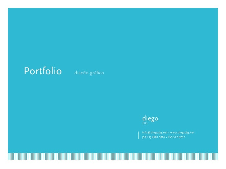 Portfolio   diseño gráfico                                  diego                              dg                         ...