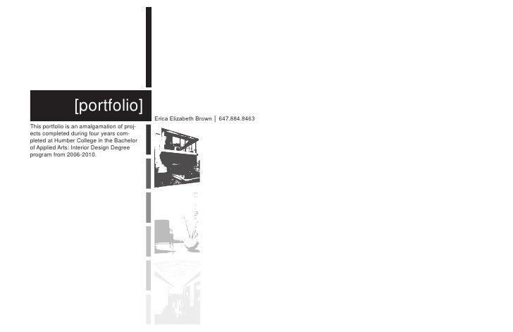 Interior Design Portfolio. [portfolio] Erica Elizabeth Brown ...