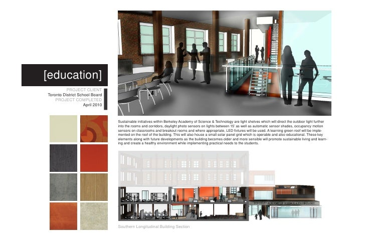 Western Latitudinal Building Section 6 Education PROJECT CLIENT Toronto