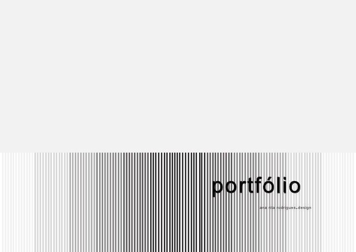 portfólio     ana rita rodrigues . design