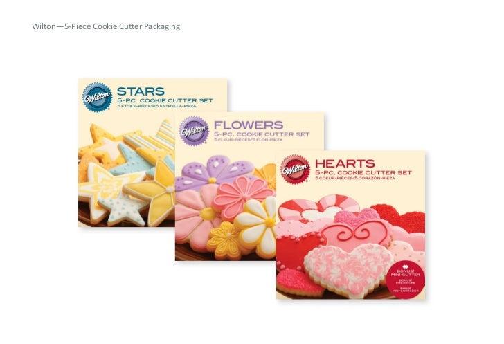 Wilton—5-‐Piece Cookie CuRer Packaging