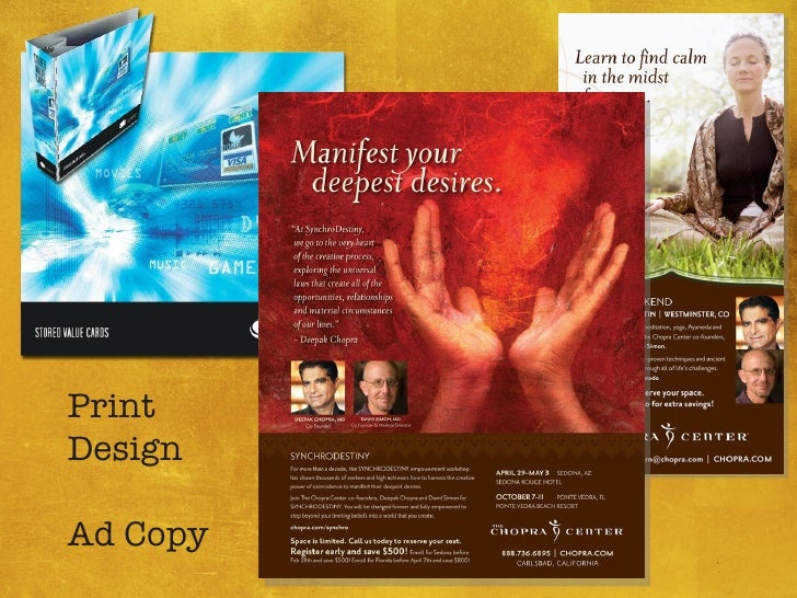 Print Design Ad Copy