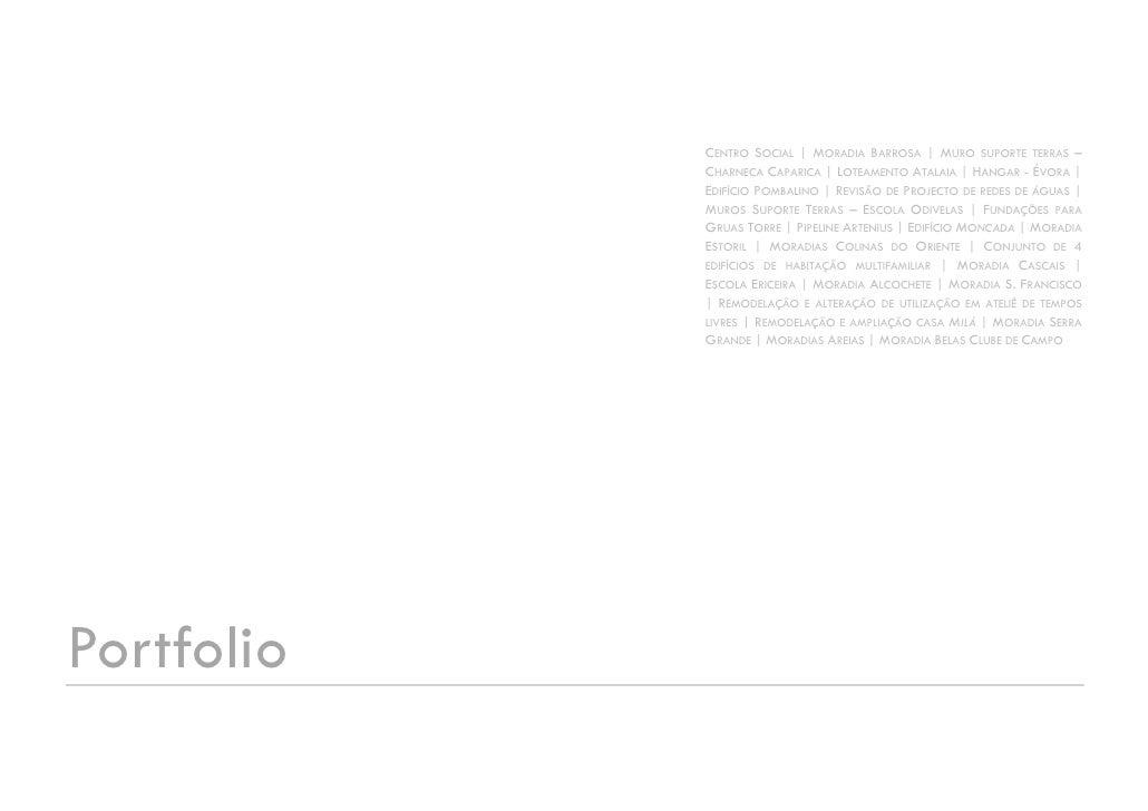 CENTRO SOCIAL | MORADIA BARROSA | MURO SUPORTE TERRAS –             CHARNECA CAPARICA | LOTEAMENTO ATALAIA | HANGAR - ÉVOR...