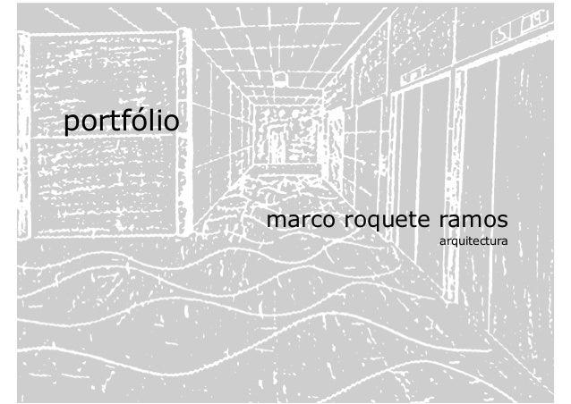 portfólio marco roquete ramos arquitectura