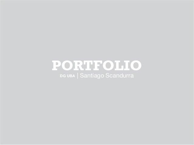 PORTFOLIO | Santiago ScandurraDG UBA
