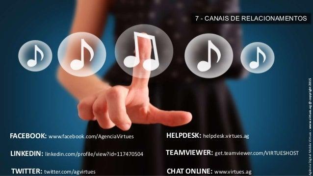 7 - CANAIS DE RELACIONAMENTOS AgênciaDigitalMobileVirtues-www.virtues.ag@copyright2015 FACEBOOK: www.facebook.com/AgenciaV...
