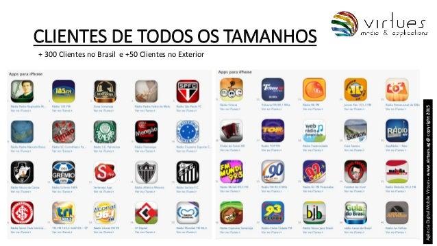 CLIENTES DE TODOS OS TAMANHOS AgênciaDigitalMobileVirtues-www.virtues.ag@copyright2015 + 300 Clientes no Brasil e +50 Clie...