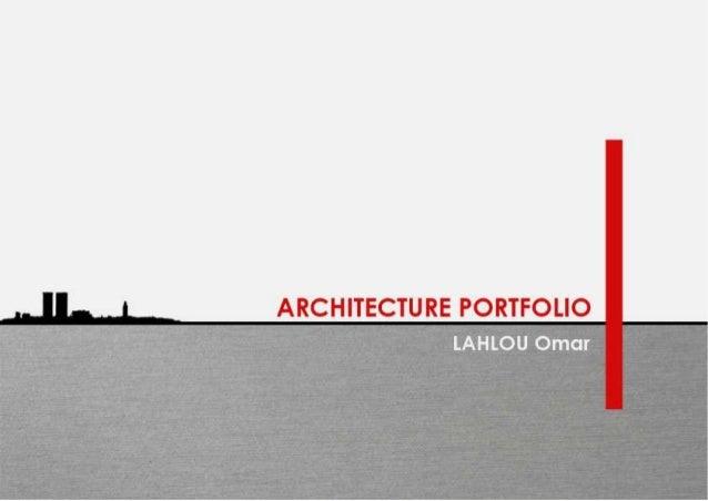 ARCHITECTURE PORTFOLIO  2 . ..f