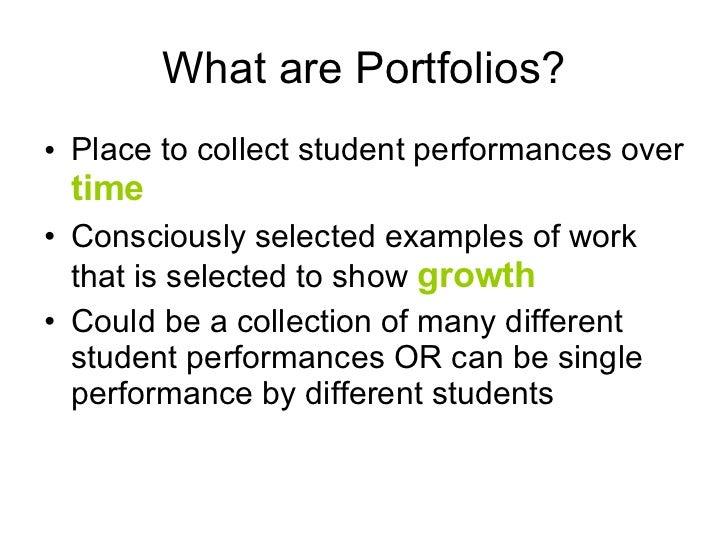 Portfolio Assessment Slide 2