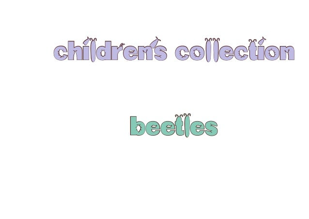 children's collection beetles