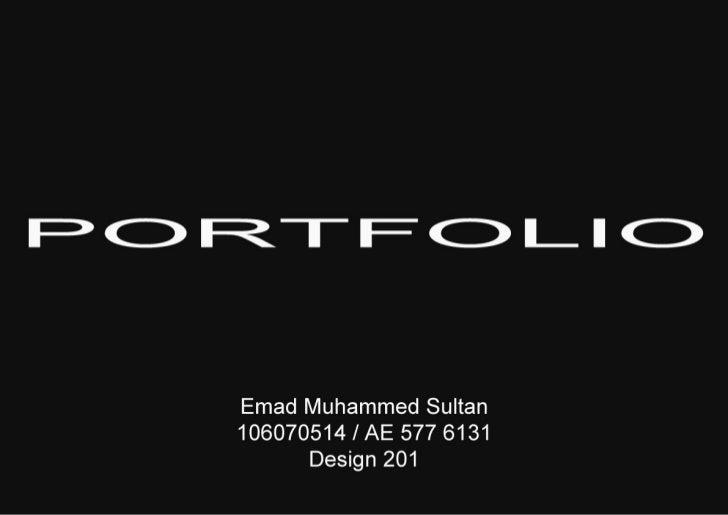 Portfolio - Architecture Design 201