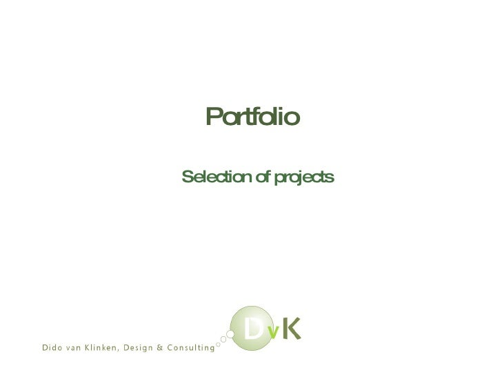 Portfolio Selection of projects
