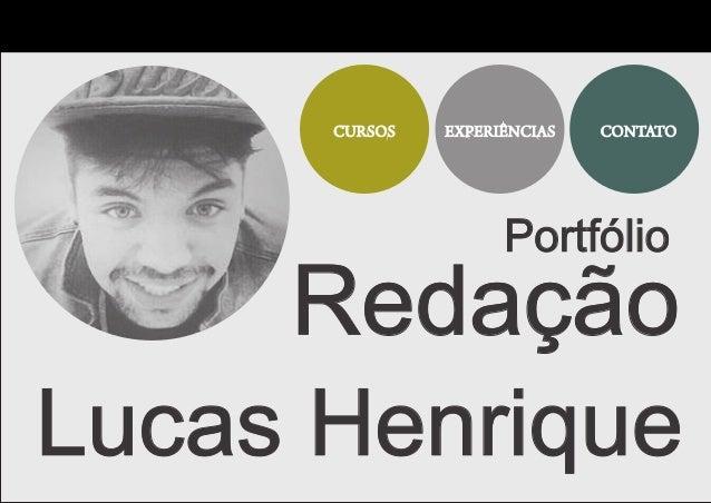 Portfólio Redação Lucas Henrique