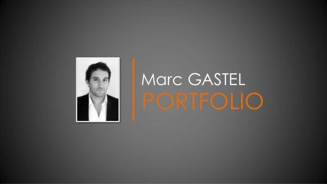 Marc GASTEL PORTFOLIO
