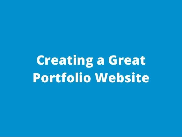 Creating a Great Portfolio Website