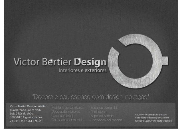 """Victor Bertier Design  00  Interiores e exteriores     Decore O seu espago com desigfl inovagao""""  Victor Bertier Design — A..."""