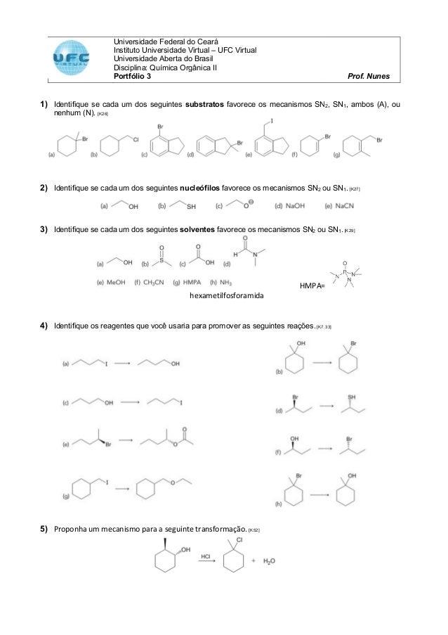 Universidade Federal do Ceará Instituto Universidade Virtual Universidade Aberta do Brasil Disciplina: Química Orgânica II...