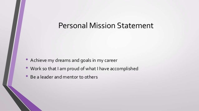 career portfolio mission statement example