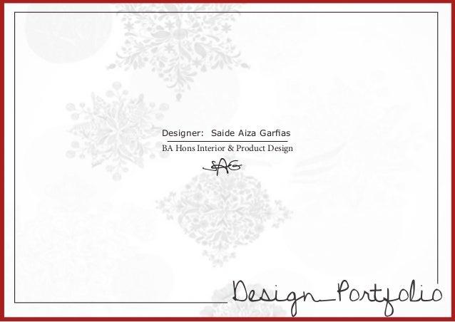Portfolio Interior and Product Design