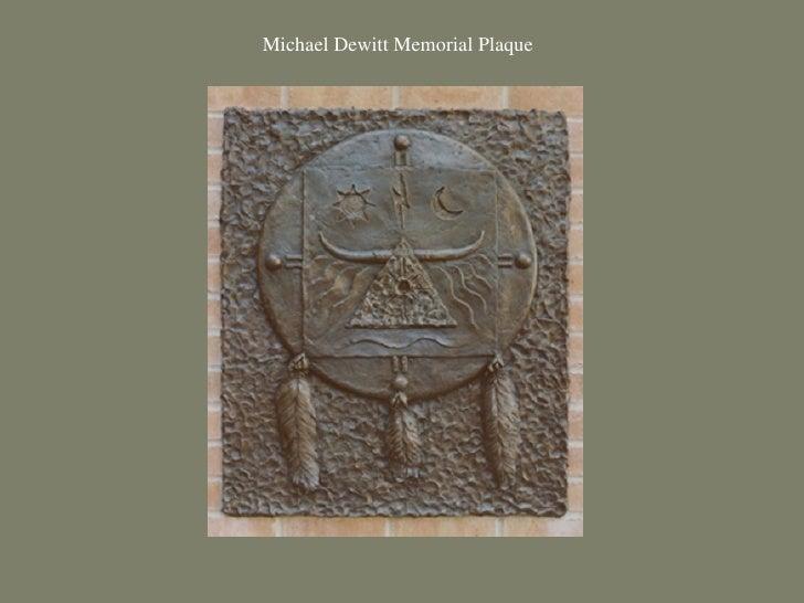 Michael Dewitt Memorial Plaque