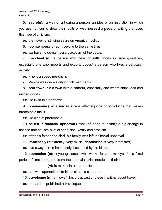 Portfolio Reading Articles – Satire Worksheet