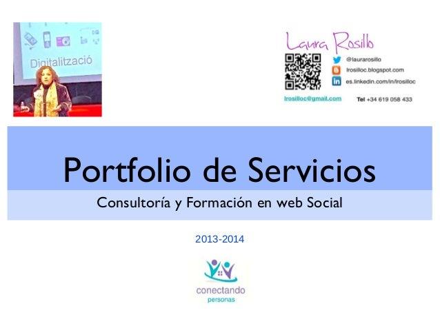 Portfolio de Servicios Consultoría y Formación en web Social 2013-2014