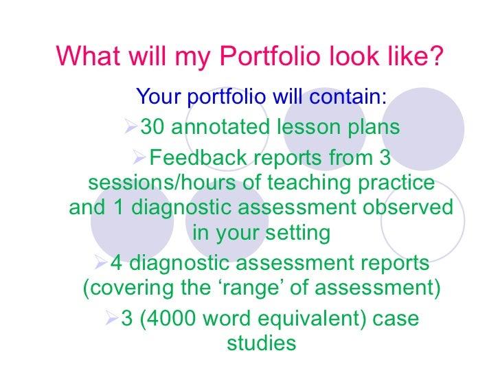 What will my Portfolio look like? <ul><li>Your portfolio will contain: </li></ul><ul><li>30 annotated lesson plans </li></...