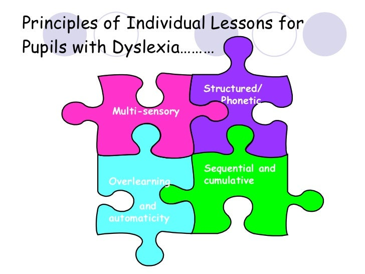 Principles of Individual Lessons for Pupils with Dyslexia……… Structured/ Phonetic Sequential and cumulative Overlearning a...