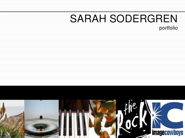 SARAH SODERGREN<br />portfolio<br />