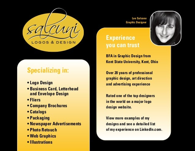 Specializing in: • Logo Design • Business Card, Letterhead and Envelope Design • Fliers • Company Brochures • Catalogs • P...