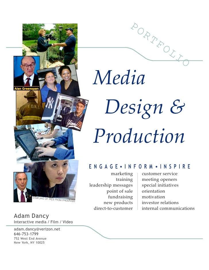 Media                                      Design &                                     Production                        ...