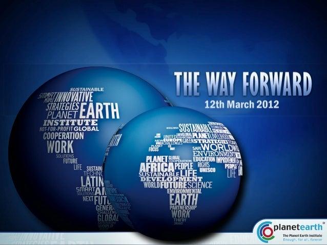 Portfólio - Apresentação The Planet Earth Institute
