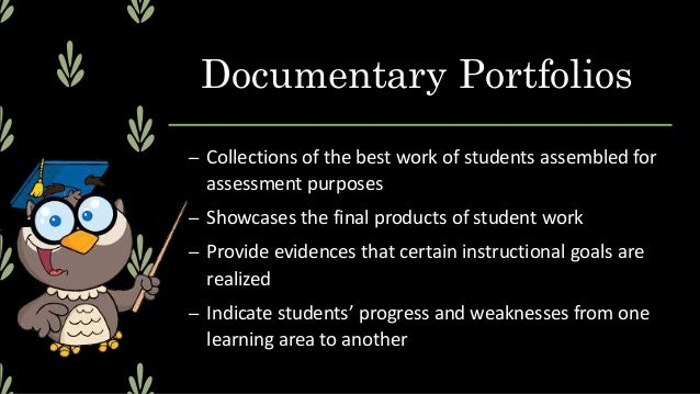 Types of Portfolios 1. Show Portfolios