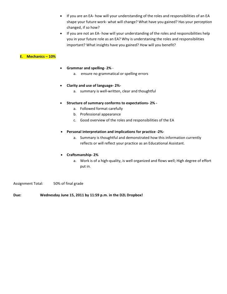 Designing a Portfolio Assignment