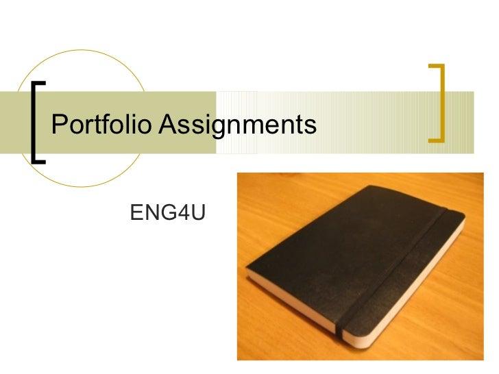 Portfolio Assignments      ENG4U