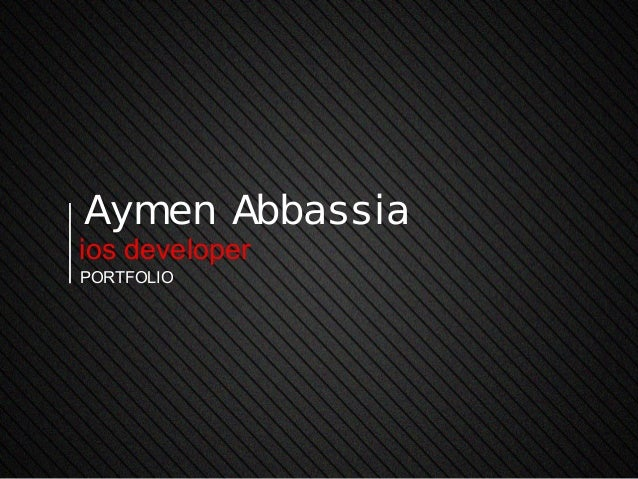 Aymen Abbassiaios developerportfolio