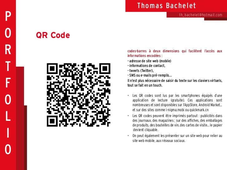 Th o ma s Ba che letP                                                     th_bache let@hotmail.comO   QR CodeR            ...