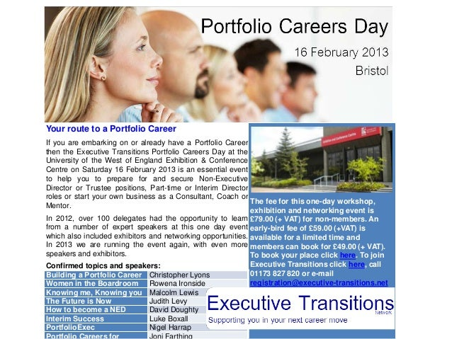 Your route to a Portfolio CareerIf you are embarking on or already have a Portfolio Careerthen the Executive Transitions P...