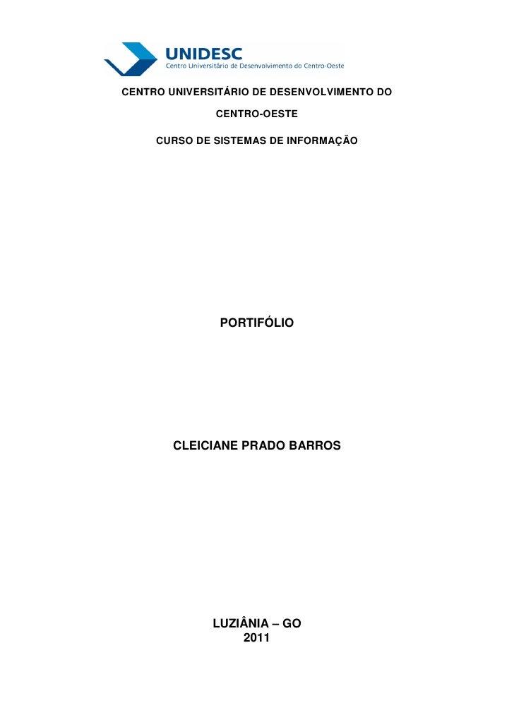 @hotCENTRO UNIVERSITÁRIO DE DESENVOLVIMENTO DO              CENTRO-OESTE     CURSO DE SISTEMAS DE INFORMAÇÃO              ...
