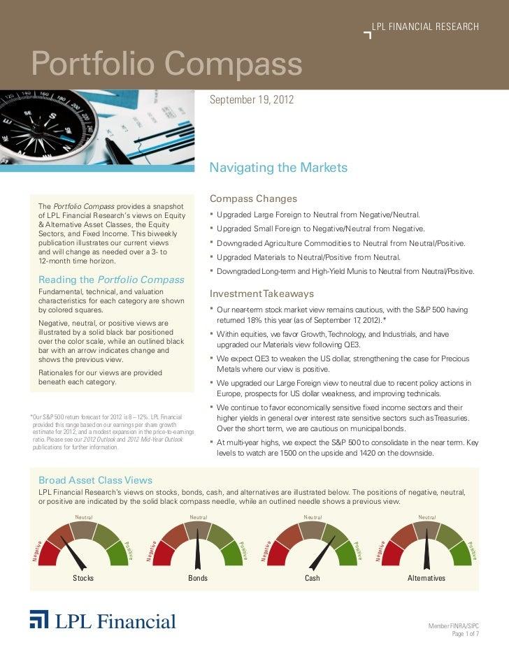 LPL FINANCIAL RESEARCHPortfolio Compass                                                                                Sep...