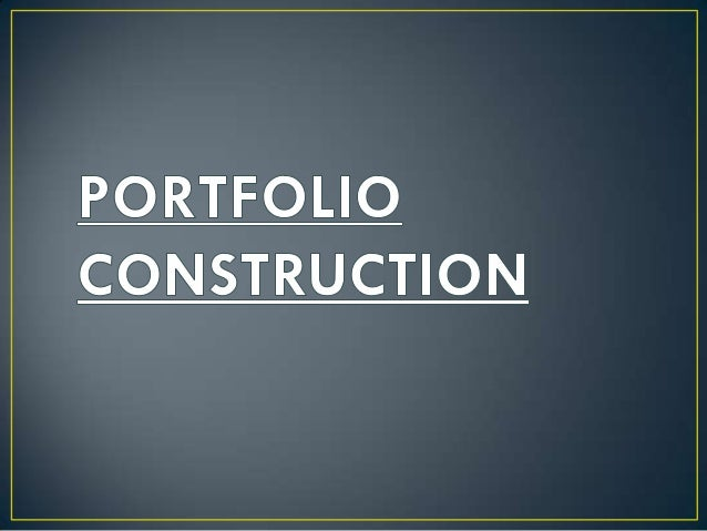 • Portfolio is a combination of securities such as stocks, bonds, and  money market instruments.• The process of blending ...