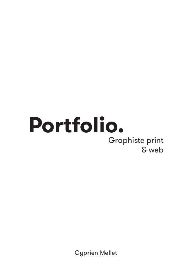 Portfolio. Cyprien Mellet Graphiste print & web