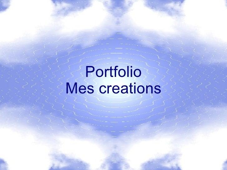 PortfolioMes creations