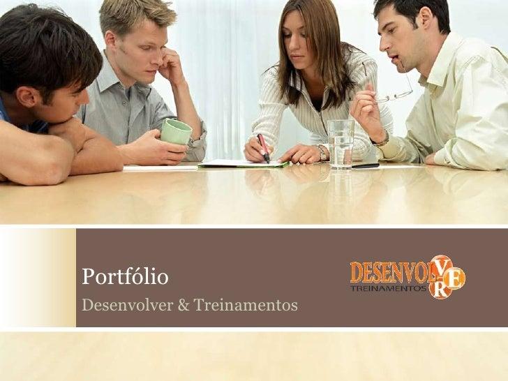 PortfólioDesenvolver & Treinamentos