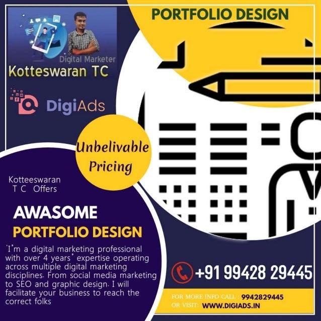 Portfolio design    kotteeswaran t c - digital marketing- digiads