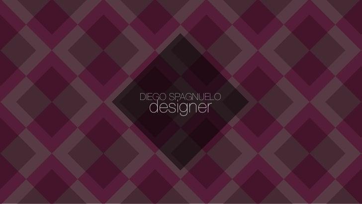 DIEGO SPAGNUELO designer
